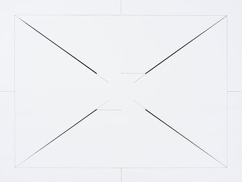 ohne Titel, 2017 Zeichnung, Bleistift und Pastellkreide auf Papier 36 x 48 cm, Foto © Meinrad Hofer