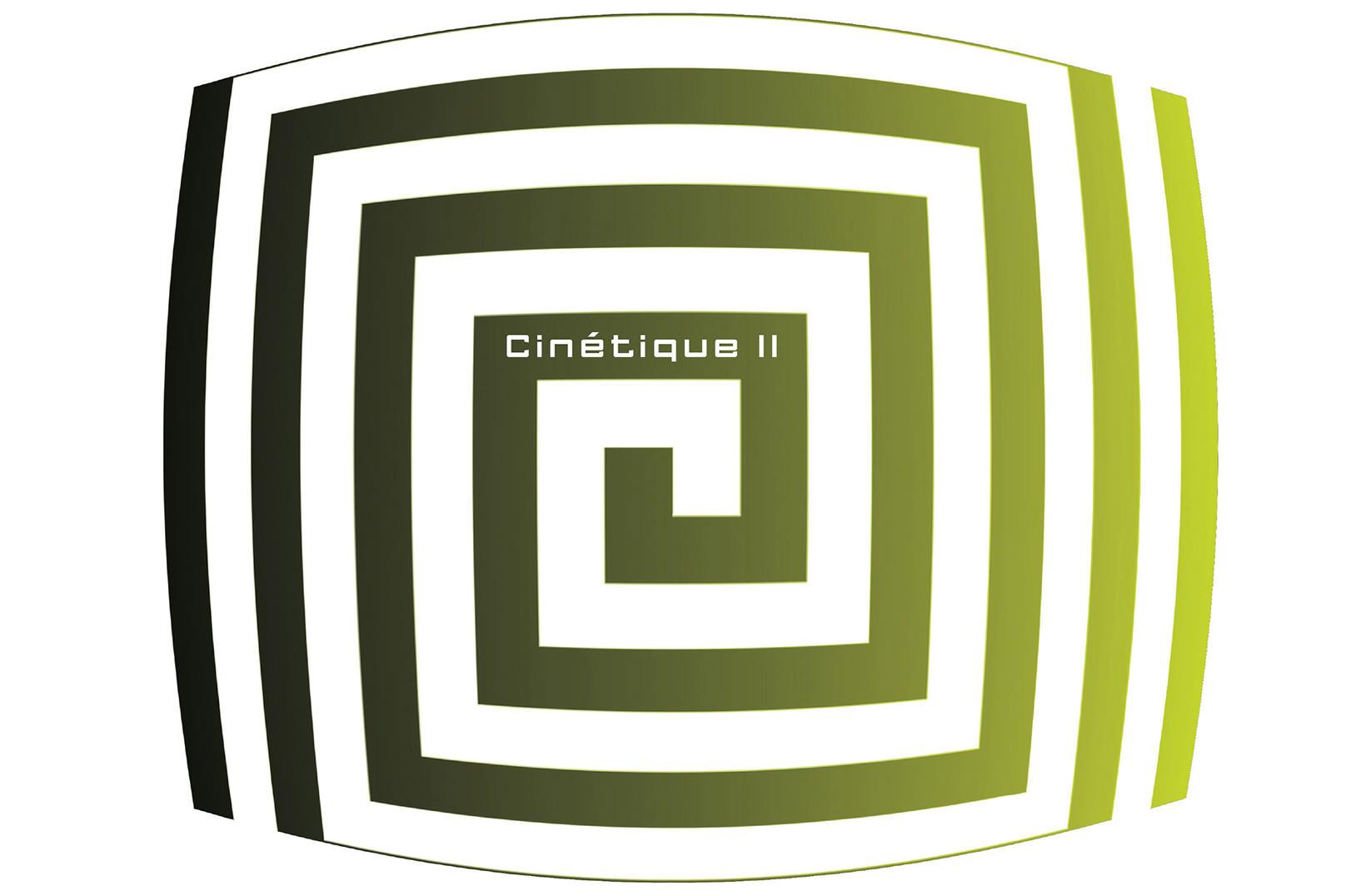 cinetique II, eine grün graues labrinth mit dem text in der mitte