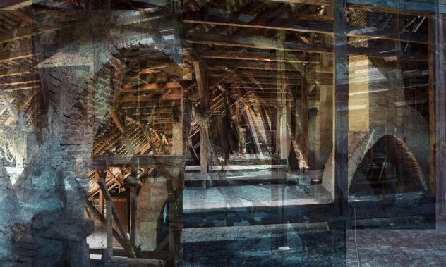 Entwurf für: As if … 2020 Digitaldruck auf Vliestapete 270 x 450 cm