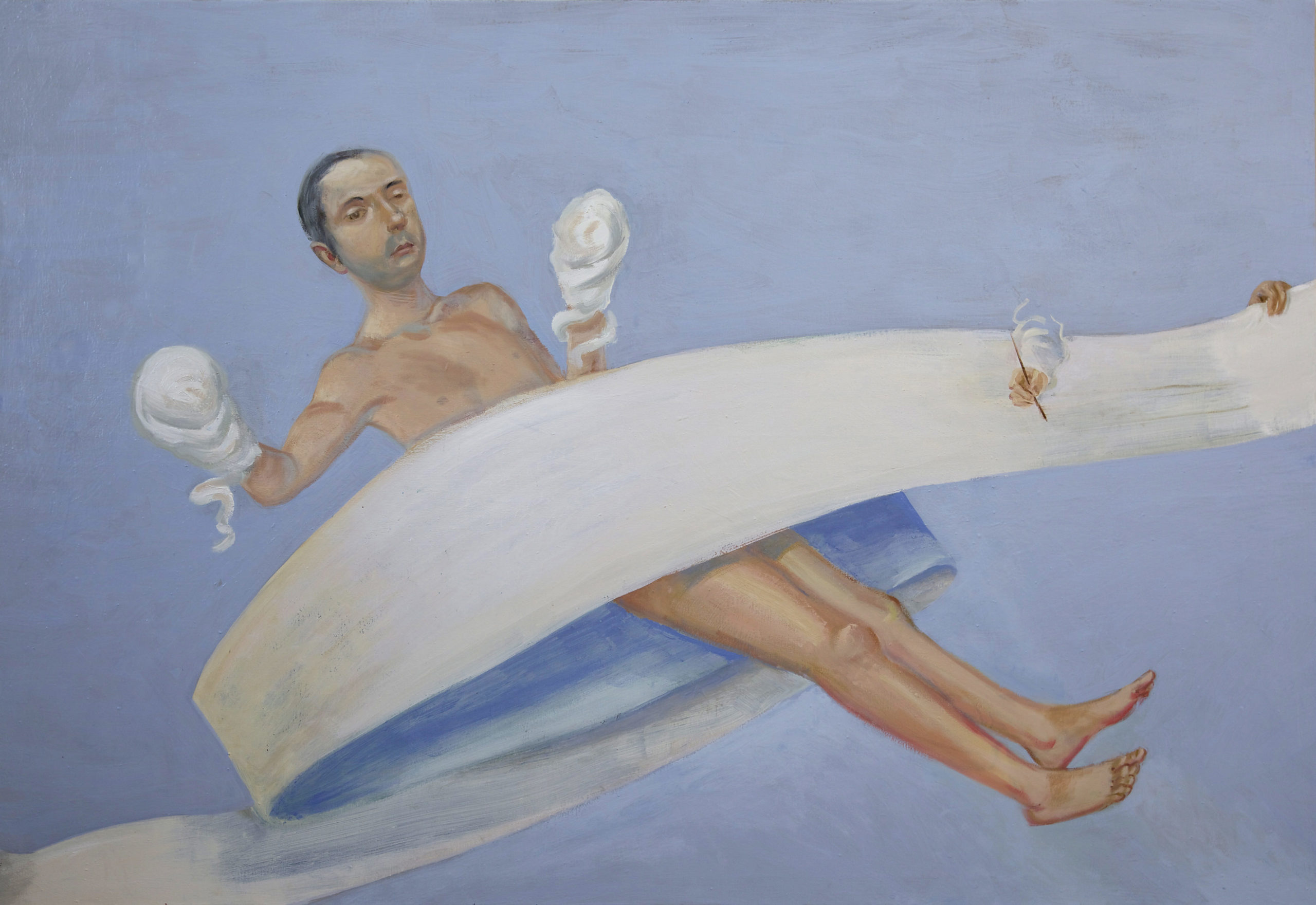 Christian Macketanz, III. Rätsel, 2018, Öl/Leinwand, 120x175 cm; Foto: Christian Macketanz