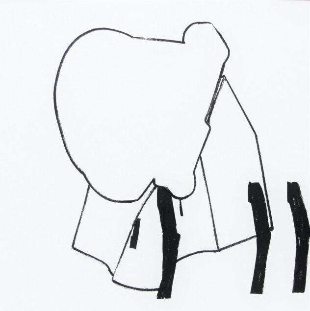 Lena Knilli, Haus und Baum (1 – 4), 2020, Industrypainter auf Papier, 42 x 42 cm, Foto: Knilli, kein Bildrecht
